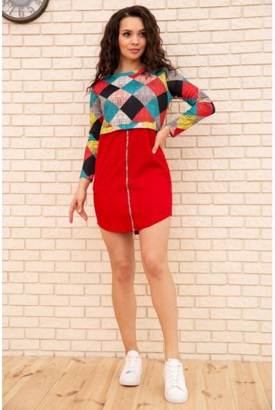 Платье мини с геометрическим принтом цвет Красный 167R1805 56248