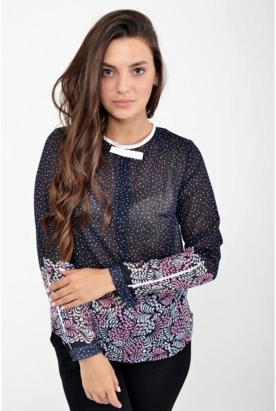 Блуза женская 115R036 цвет Сине-розовый