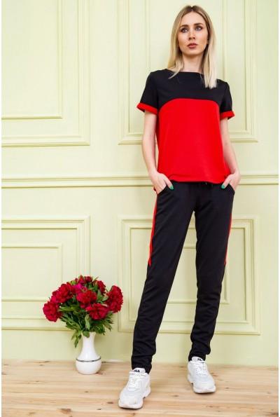 Костюм женский двухнитка   цвет черно-красный 102R184 58416