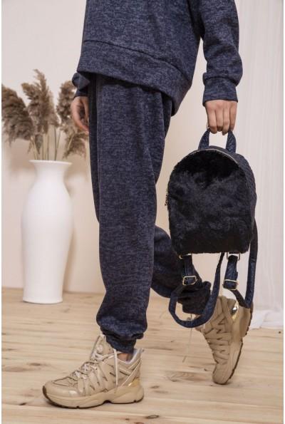 Маленький рюкзак с мехом цвет Черный 154R003-17-2