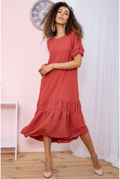 Платье батал  цвет коралловый 150R655 65056