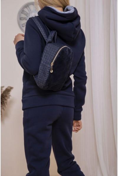 Маленький рюкзак с мехом цвет Темно-синий 154R003-17-2