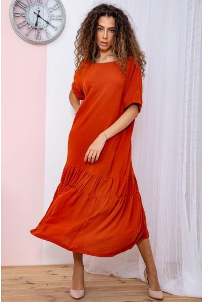 Платье батал  цвет терракотовый 150R655 65062