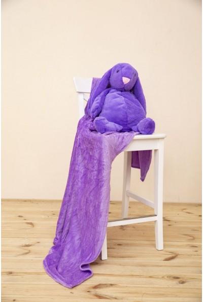 Игрушка-плед и подушка фиолетовго цвета 154R102