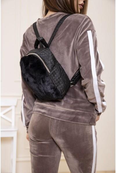 Маленький рюкзак с мехом цвет Черный 154R003-17-2 48252