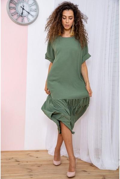 Платье батал  цвет оливковый 150R655 65058