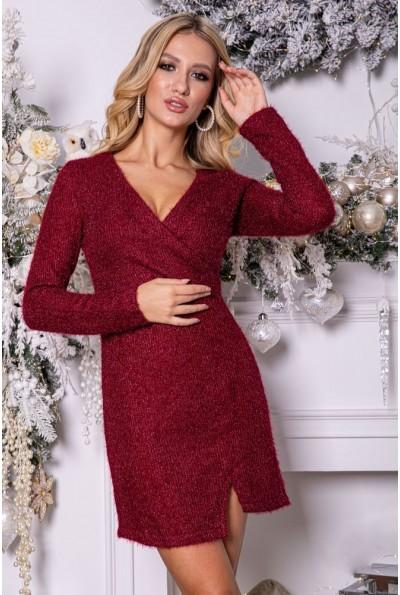 Платье женское 115R802 цвет Бордовый