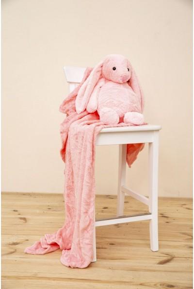 Игрушка-плед и подушка розовый цвета 154R102 52627