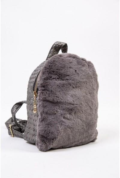 Маленький рюкзак с мехом цвет Серый 154R003-17-2