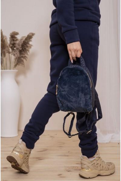 Маленький рюкзак с мехом цвет Синий 154R003-17-2