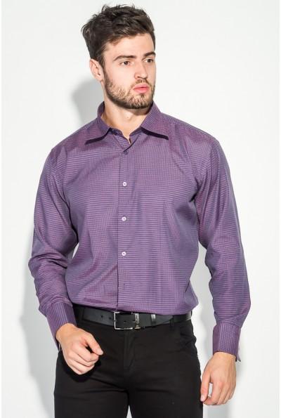 Стильная рубашка мужская чернильная приталенная 37162-20