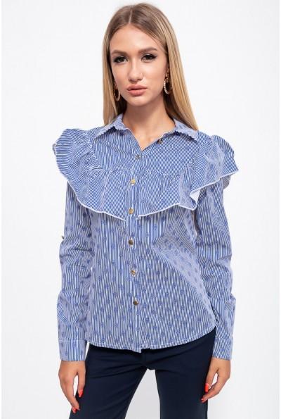 Блузка 115R251-4 цвет Сине-белый