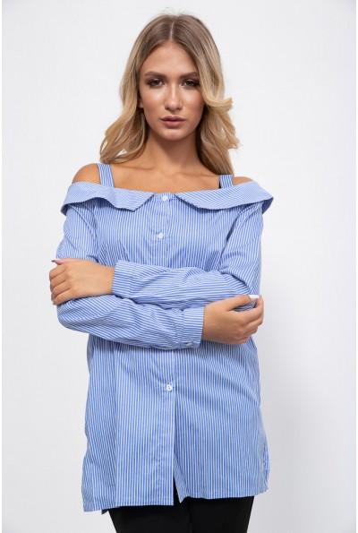 Блуза 115R302 цвет Бело-голубой