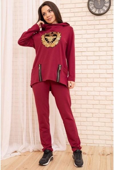 Спортивный  костюм женский 104R107 цвет Бордовый 55190