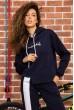Костюм женский на флисе  цвет темно-синий 167R035 скидка