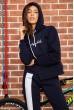Костюм женский на флисе  цвет темно-синий 167R035 акция