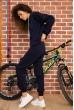 Костюм женский на флисе  цвет темно-синий 167R035 стоимость