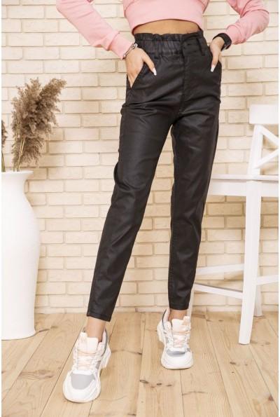 Женские прямые брюки с высокой посадкой черного цвета 164R4990 49651
