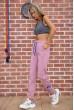 Спорт штаны женские на флисе  цвет пудровый 182R010 недорого