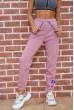 Спорт штаны женские на флисе  цвет пудровый 182R010 скидка