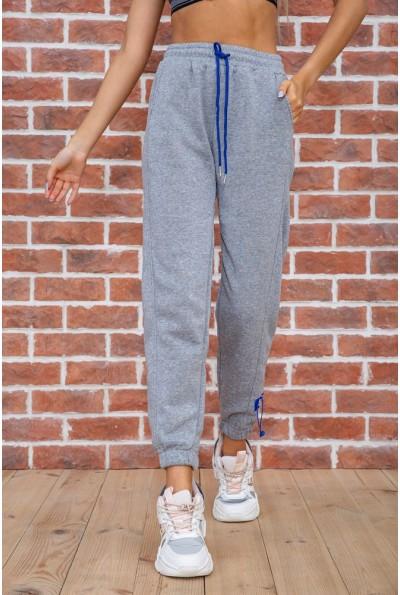 Спорт штаны женские на флисе  цвет светло-серый 182R010 67463