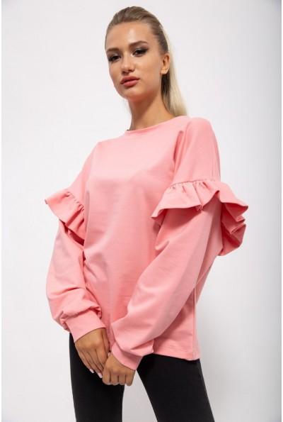 Женский свитшот с воланами цвет Пудровый 102R074