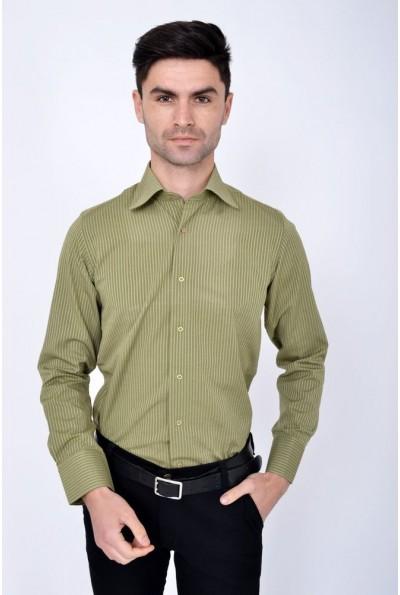 Рубашка 113RPass002 цвет Оливковый