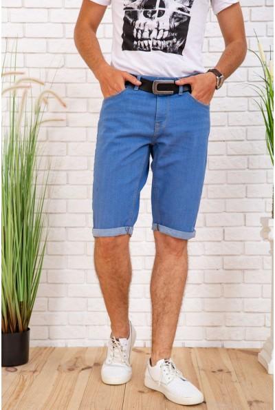 Джинсовые шорты  мужские 129R1950-01 цвет Голубой 57779