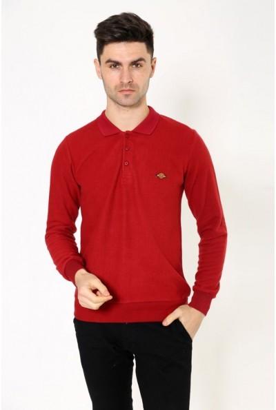 Красный мужской джемпер, хлопковый 116R032