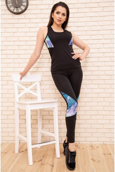 Спорт костюм женский 129R468-107 цвет Черно-синий 53900