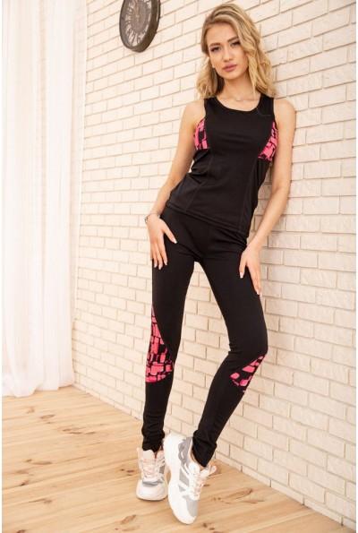 Спорт костюм женский 129R468-107 цвет Черно-розовый 53896
