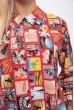 Блузка 115R191-5 цвет Красный скидка