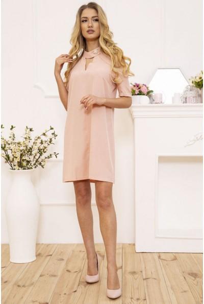Платье мини с открытыми плечами цвет Пудровый 102R161 49415