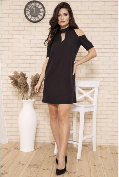 Платье мини с открытыми плечами цвет Черный 102R161