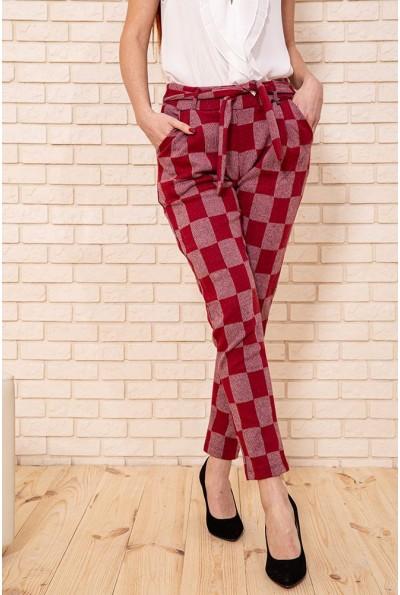 Брюки женские 117R044 цвет Красный