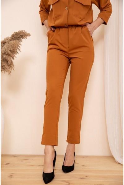 Укороченные женские брюки на резинке цвет Терракотовый 115R370-1 53738