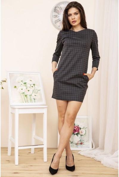 Платье 167R996-3 цвет Черно-серый