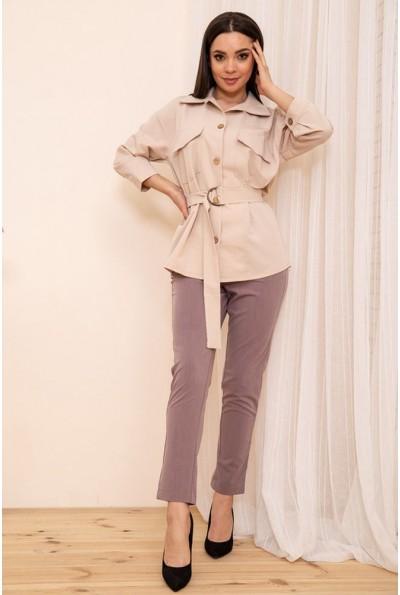 Укороченные женские брюки на резинке цвет Фиолетовый 115R370-1 53730