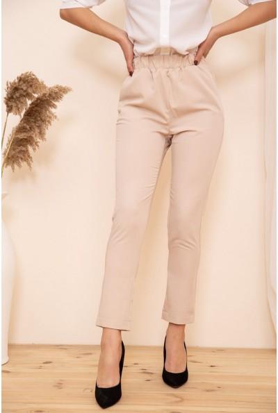 Укороченные женские брюки на резинке цвет Бежевый 115R370-1 53720