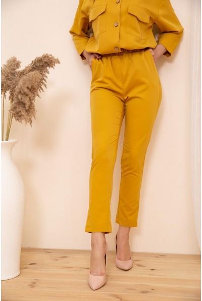 Укороченные женские брюки на резинке цвет Горчичный 115R370-1 53722
