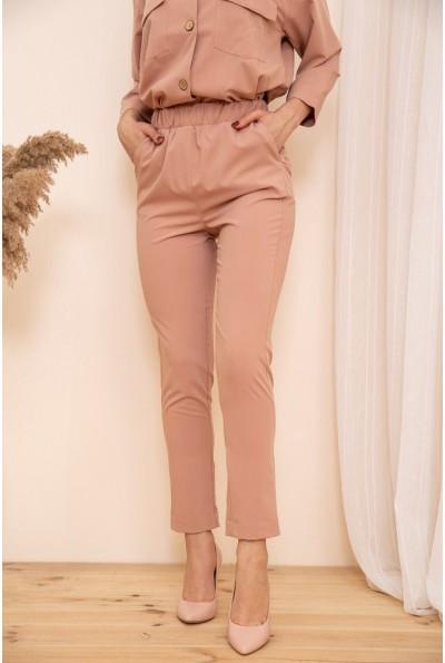 Укороченные женские брюки на резинке цвет Пудровый 115R370-1 53728