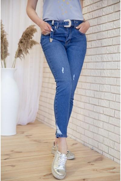Женские джинсы скинни укороченные цвет Синий 131R4344