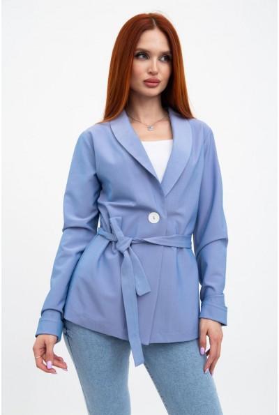 Пиджак женский расцветка джинс, летний с поясом 115R363-5 32342