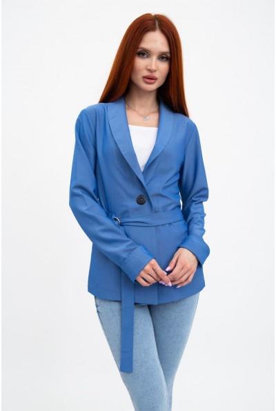 Пиджак женский синий, летний с поясом 115R363-5 32346