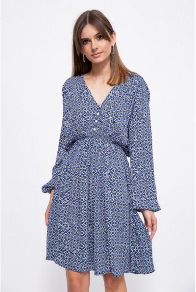 Платье 115R172-1 цвет Синий
