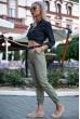 Брюки женские 149R9307-8 цвет Хаки скидка