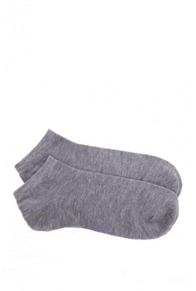 Носки укороченные женские, светло-серые 136R005