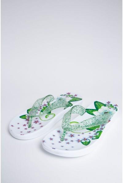 Сланцы женские 140R002 цвет Бело-зеленый