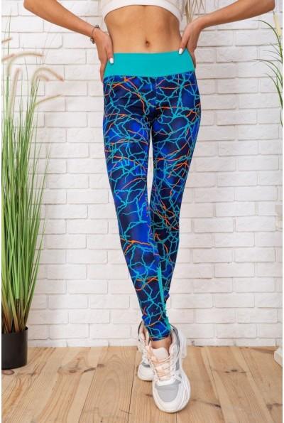 Женские лосины для спортзала цвет Сине-бирюзовый 172R3111-6 55930