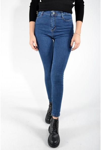 Синие женские джинсы со стрейчем 123R17220